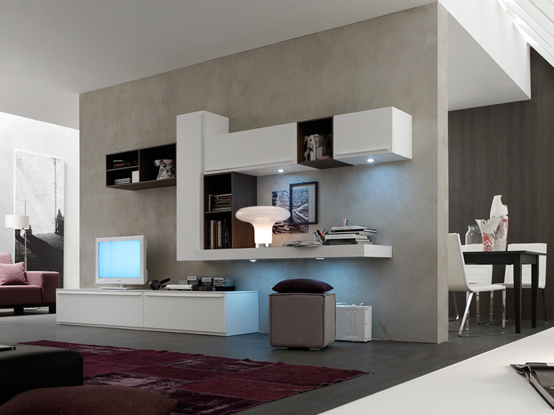 Beautiful trendy living with pitturare pareti casa with - Idee imbiancare casa ...